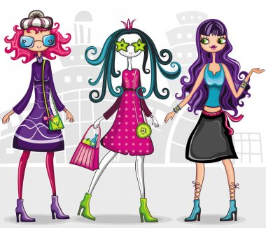 Urban fashion girls (from fashion girl