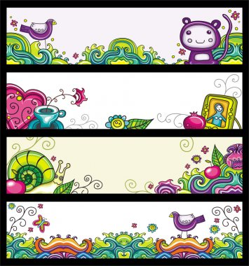 Floral banners 2 (floral series)