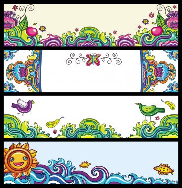 Floral banners (floral series)