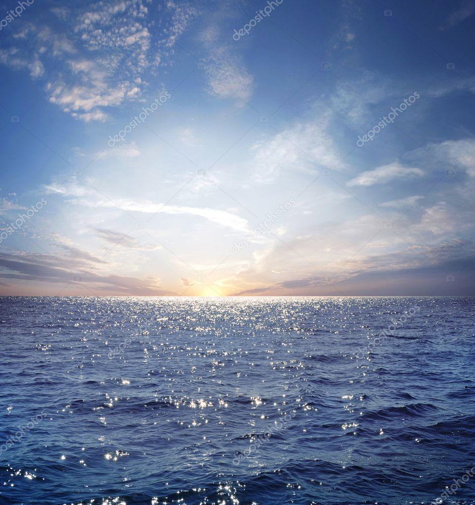 Фотообои Blue sky and ocean