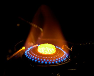 Flame in gas stove