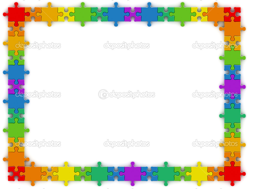 Regenbogen-Puzzle-Rahmen — Stockfoto © 1xpert #2769672