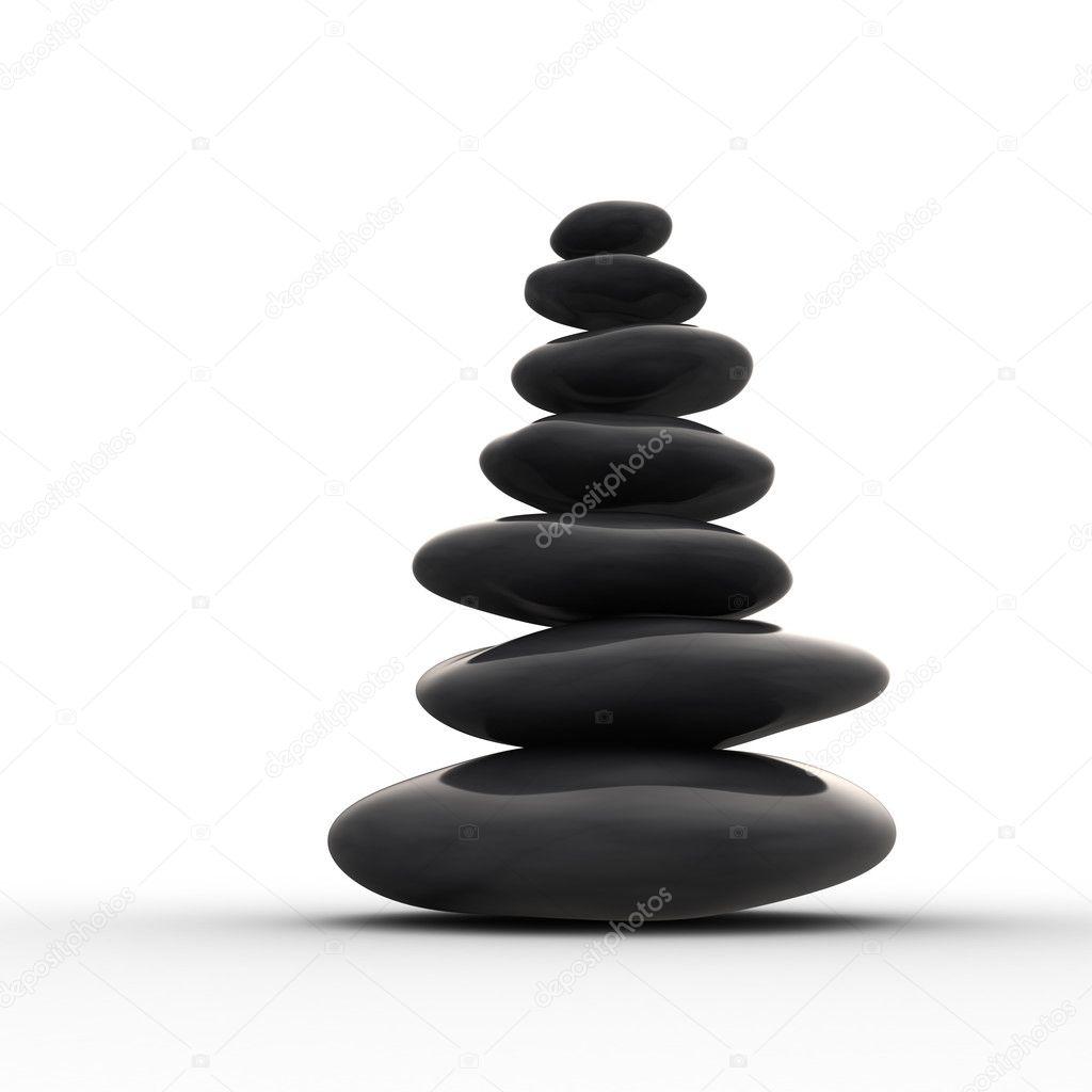 fila equilibrada de piedras zen foto de stock - Piedras Zen