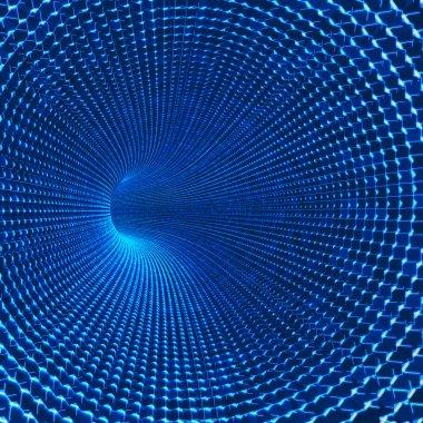 Futuristic conceptual tunnel