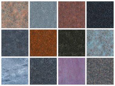 12 seamless natural granite textures