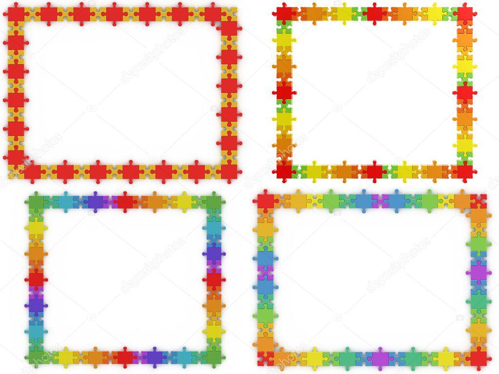 Puzzle-Rahmen — Stockfoto © 1xpert #3318432