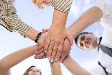hold hands together