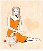 Dívka a kočka