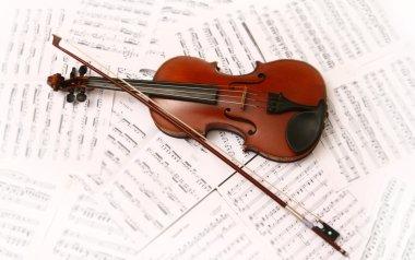 "Картина, постер, плакат, фотообои ""скрипка и музыка "", артикул 2706688"