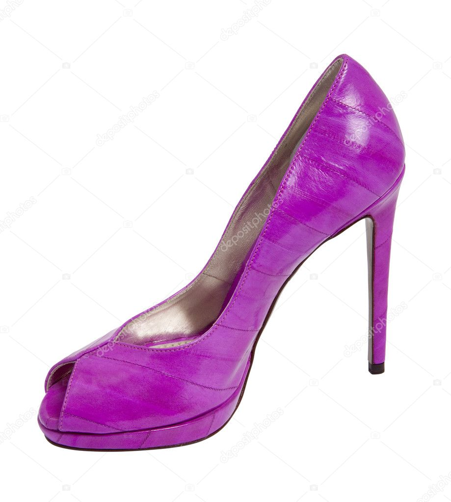 9098cd2f51a Chaussure de femmes talon haut femme violet– images de stock libres de  droits