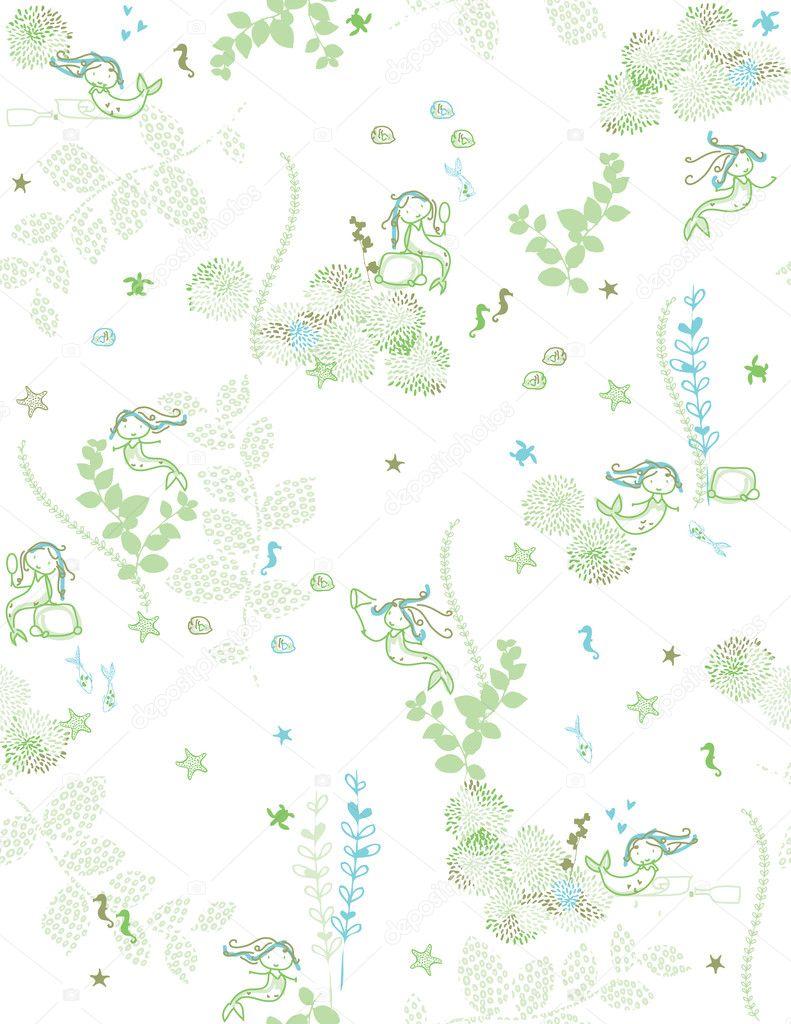verano de sirena — Archivo Imágenes Vectoriales © LittleLion #3037406