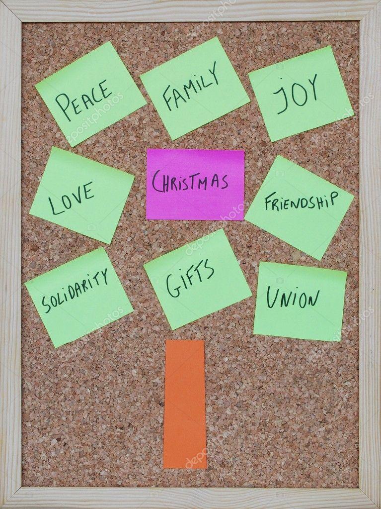 Definition Weihnachten.Definition Von Weihnachten Auf Einem Baum Konzept Stockfoto