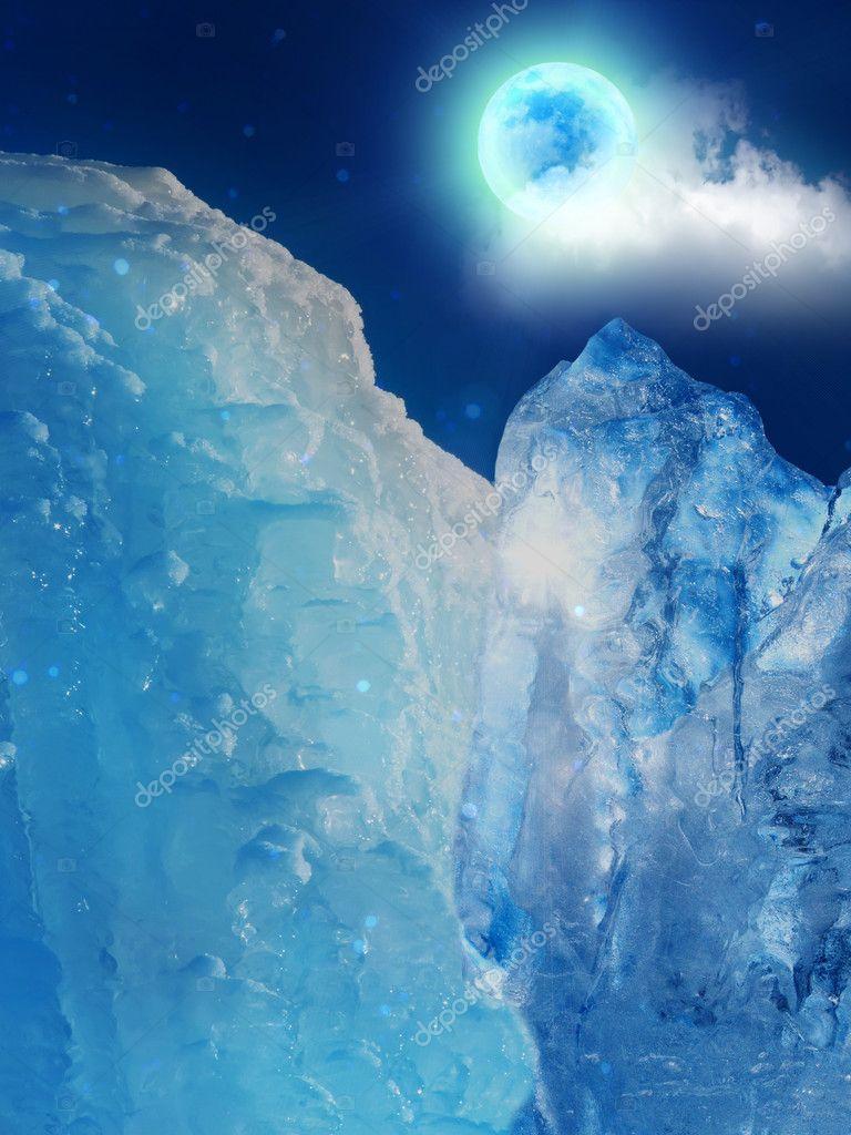 Iceberg mountain ice