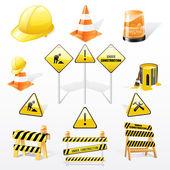Sotto costruzione set di icone