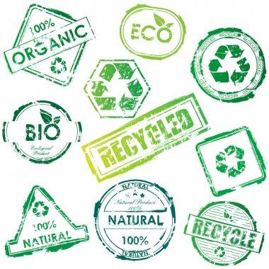 Vector eco stamp