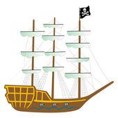 Piratenschiff isoliert auf weiss