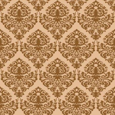 Damask brown seamless texture