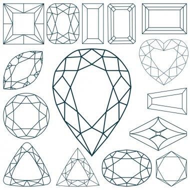 Stone shapes against white