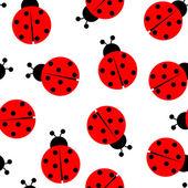 Photo Ladybug seamless pattern