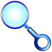 Blue magnifying glass