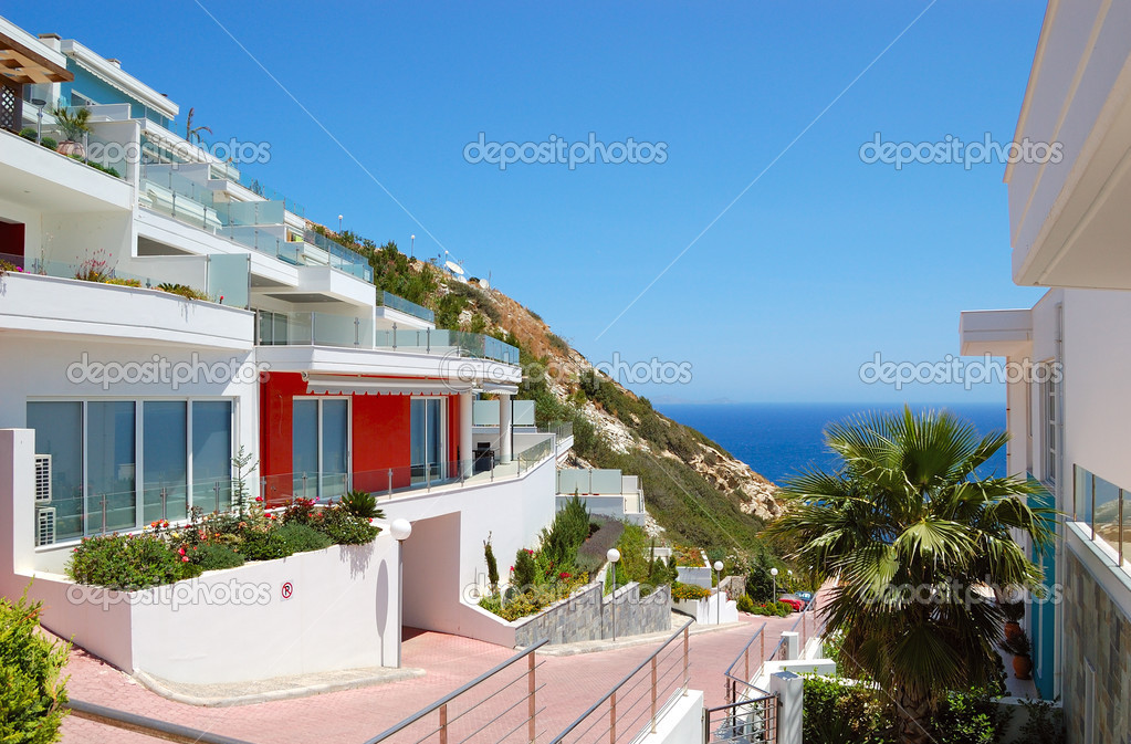 Luxury villas at the resort