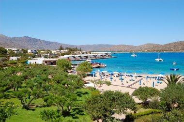 Beach and recreation area of luxury hotel, Crete, Greece