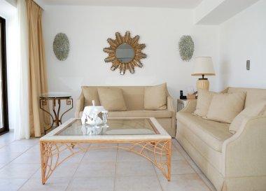 Interior of the luxury villa, Crete, Greece stock vector