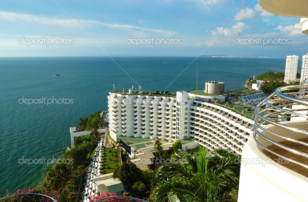 The luxury hotel with sea view, Pattaya, Thailand