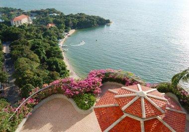 """Картина, постер, плакат, фотообои """"площадь с видом на море роскошного отеля, паттайя, таиланд картины"""", артикул 3902173"""