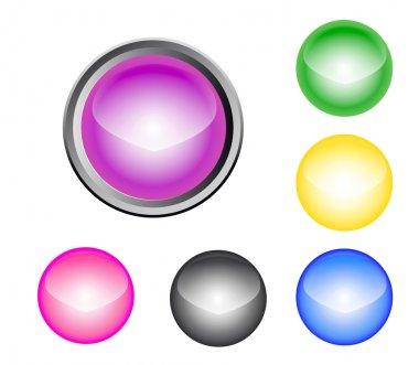 Metalic Glossy Button stock vector