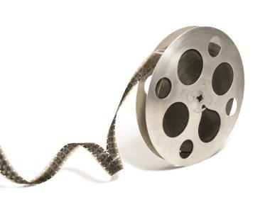 Big 16 mm monochrome film reel
