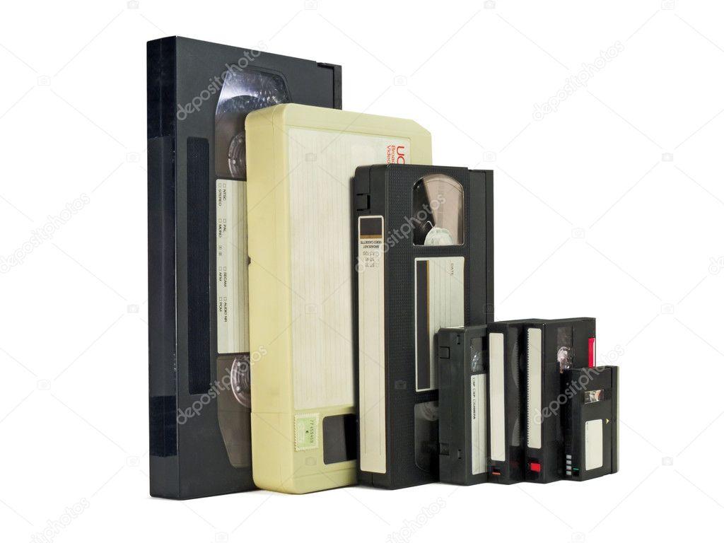 b602f28cd al lado de cintas de video — Foto de stock © sergioyio  3394563