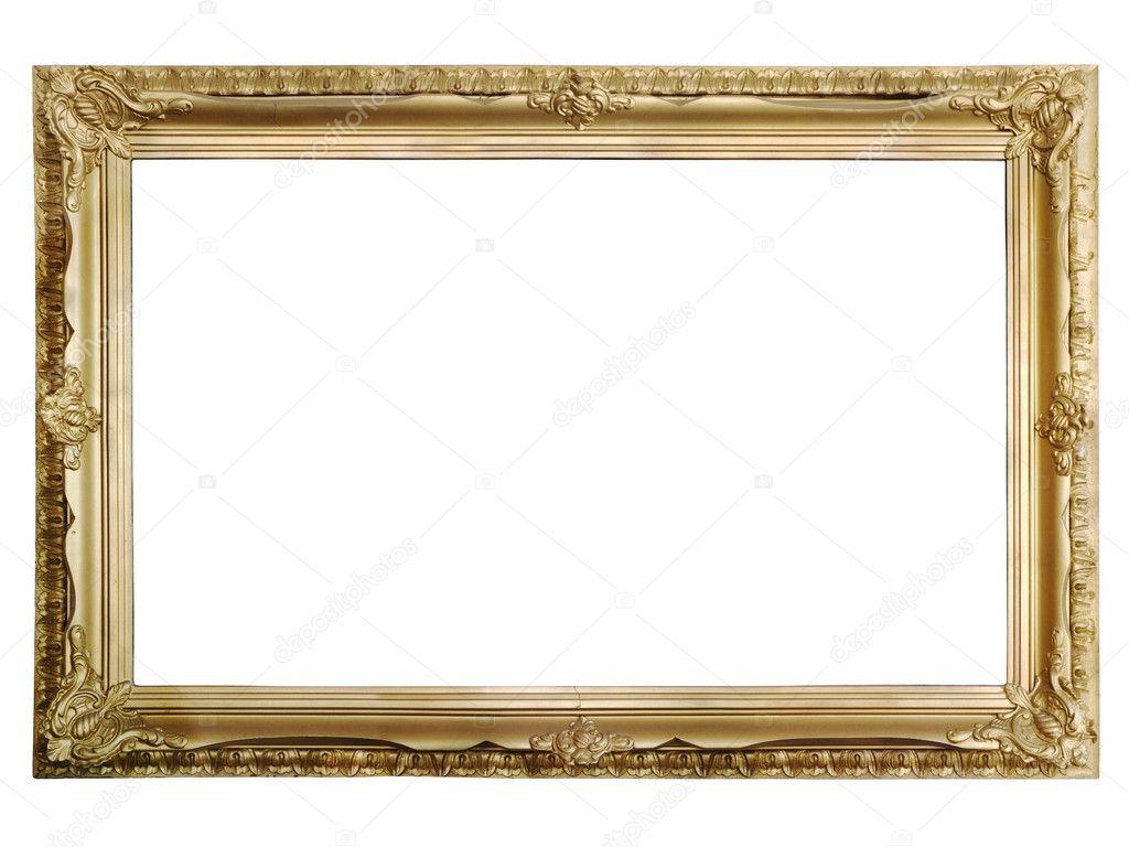 Antike goldene Bilderrahmen — Stockfoto © sergioyio #3394747
