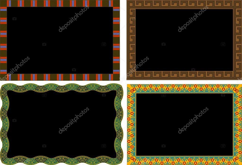 conjunto de marcos clásicos — Archivo Imágenes Vectoriales ...