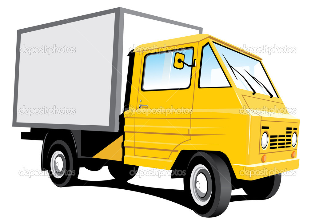 Yellow delivery truck — Stock Vector © Alexey71 #2784222