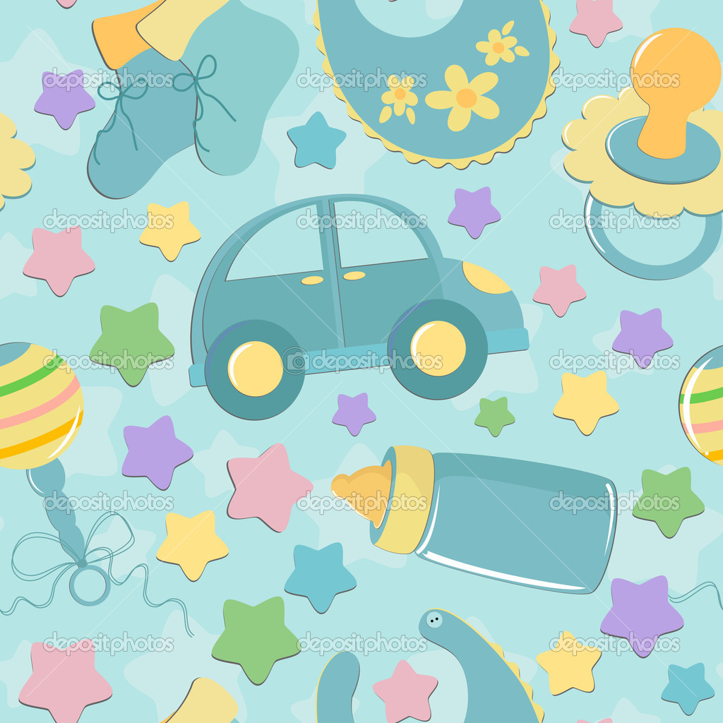 Seamless background baby's toys