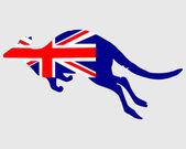 Vlajka Austrálie s klokanem