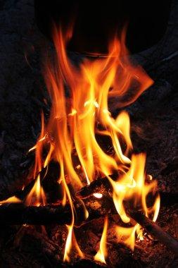Fire on night