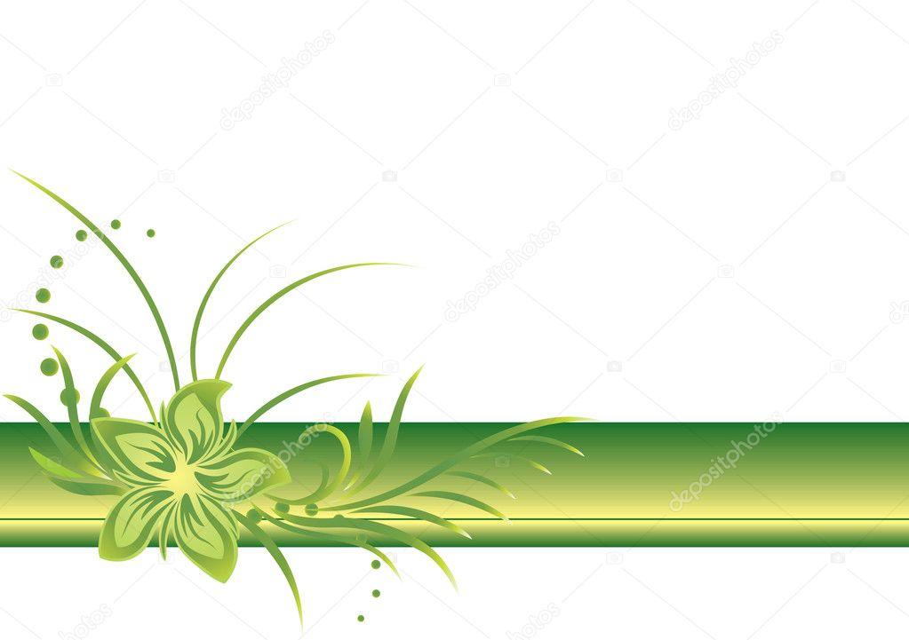 Green border line