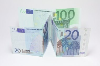 20 euro and 100 euro banknote