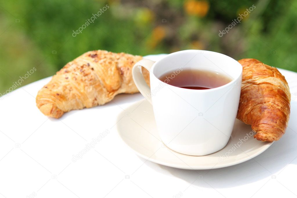 Tea and croissants
