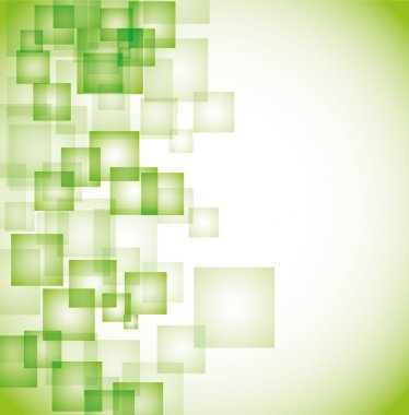 Abstract green square background eps10