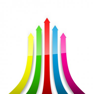Colored arrows. Vector illustration