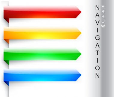Vector navigation arrows