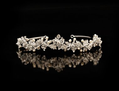 Diamond diadem on a black background
