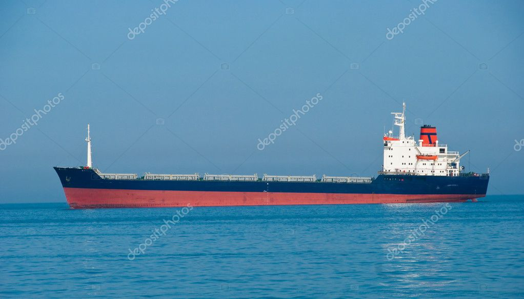 The dry-cargo ship