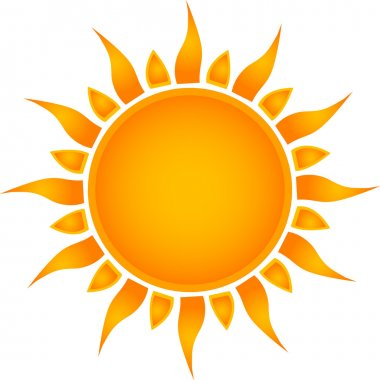 Sun icon. Vector stock vector