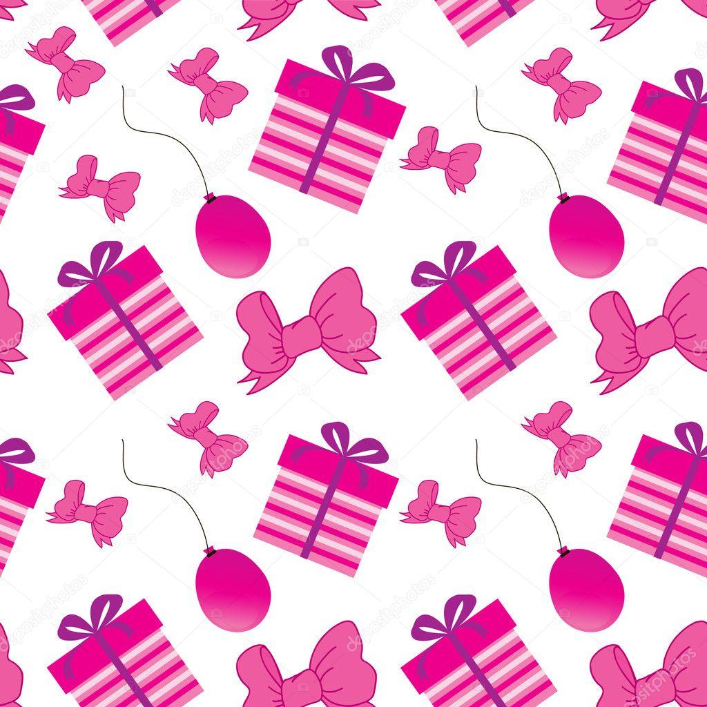 Birthdays Seamless Background Stock Illustration