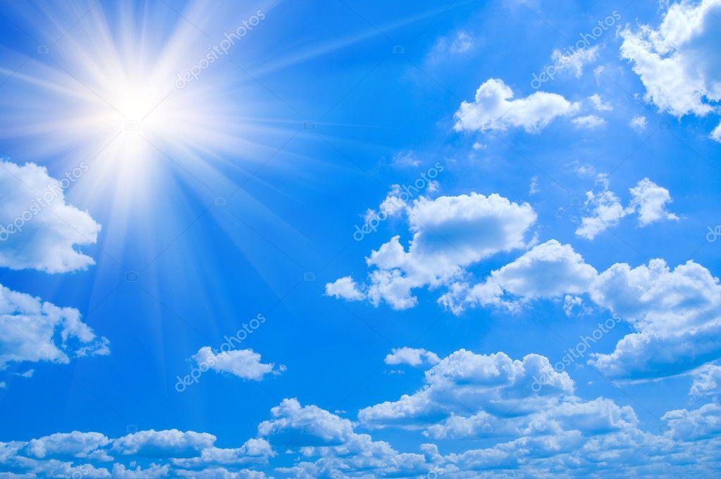 Beauty blue sky clouds