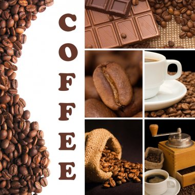 Collage from fragrant coffee